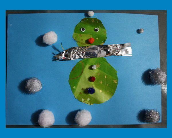 Bonhomme de neige centerblog - Comment faire un bonhomme de neige en papier ...
