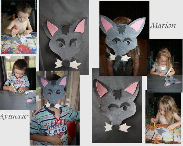 Masque de loups centerblog - Masque de loup a fabriquer ...